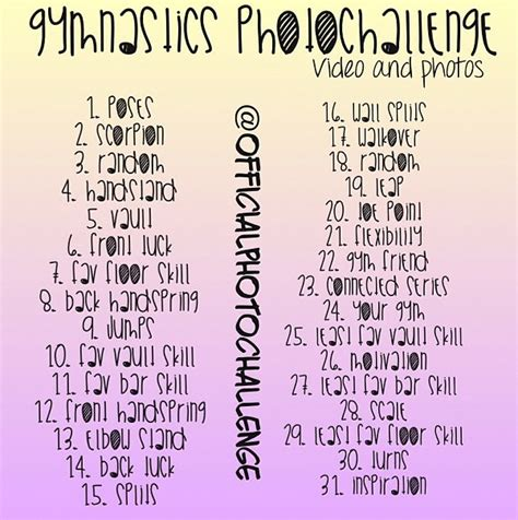 alphabet gymnastics challenge pin by allison hasebroock on workout gymnastics pinterest