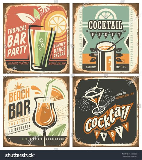vintage cocktail posters vintage cocktail poster imgkid com the image kid