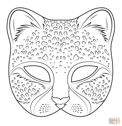 Cheetah Mask Coloring Page Free Printable Coloring Pages Masks Coloring Pages