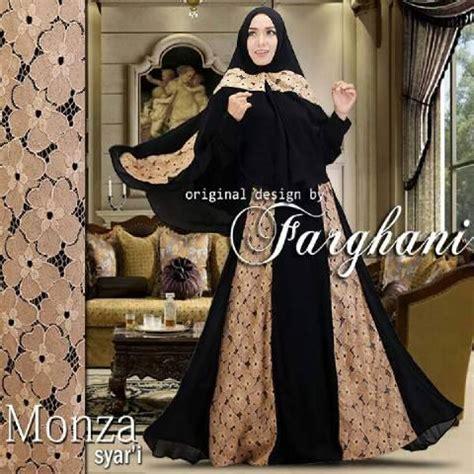 Monza Syari model gaun baju pesta muslim brokat monza syari farghani