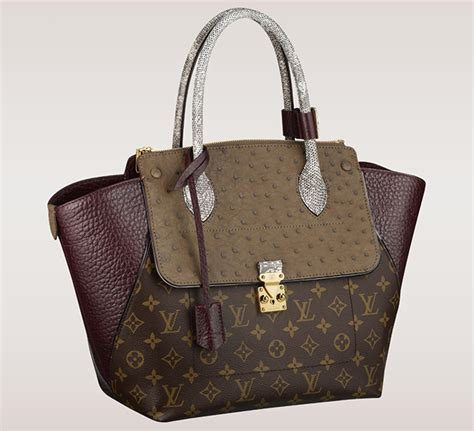 louis vuitton updates  monogram bags  exotic trim