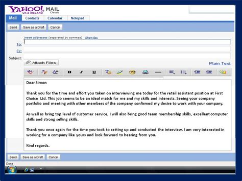 Thank You Letter For An Email How To Get A Email Thank You Note After