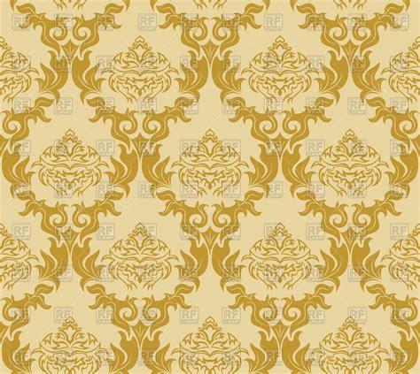 yellow damask pattern damask yellow seamless wallpaper pattern vector image