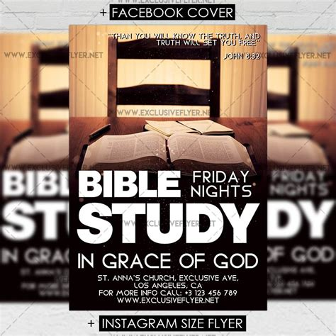 bible study premium a5 flyer template exclsiveflyer