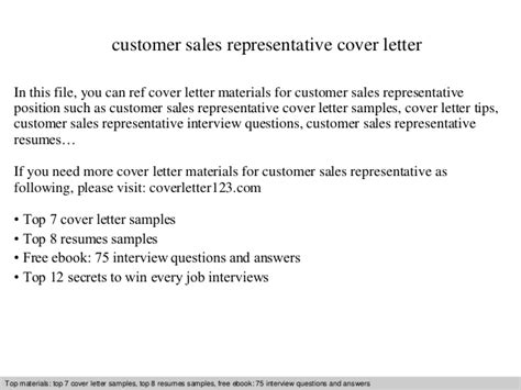 Company Introduction Letter To Customer Sle Customer Sales Representative Cover Letter