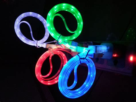 Charger Led Kabel Data Led high quality led light usb cable cord data sync charger cables for iphone 5 5s 5c for iphone 6