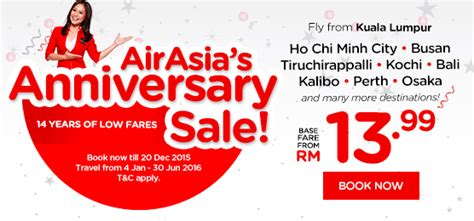 airasia discount airasia s anniversary sale till 20 december 2015