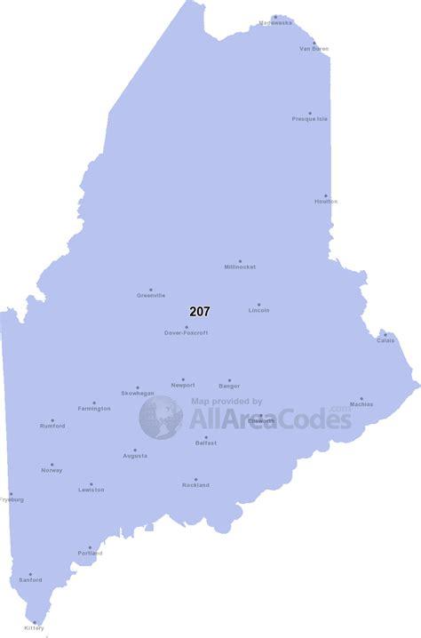 maine area codes map list  phone lookup