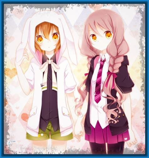 imagenes de anime kawaii de amigas imagenes anime mejores amigas archivos imagenes de anime