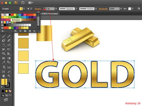 illustrator tutorial gold gold illustrator gold text goldeffekt illustrator