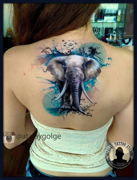 colorful elephant tattoo so colorful and in your ink beautiful