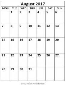august calendar template august 2017 calendar template calendar 2017 printable