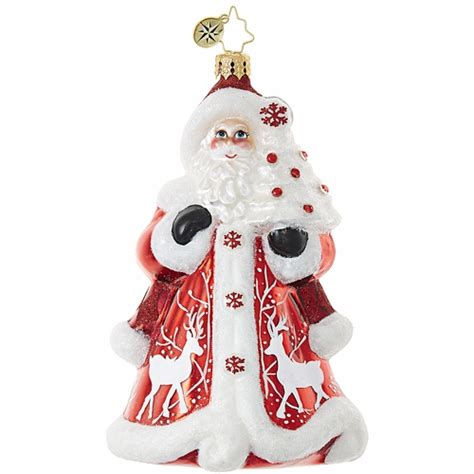 crimson kris kringle ornament by christopher radko
