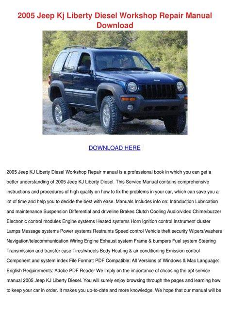 2005 Jeep Kj Liberty Diesel Workshop Repair M By