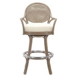 Rattan Swivel Bar Stools Furniture Brown Rattan Swivel Bar Stools With Arms And Back White Seat