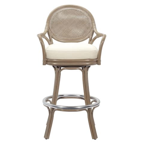 Bar Stool With Arms Dahlia 30 In Swivel Bar Stool With Arms Porcini At Hayneedle