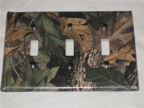 camouflage home decor mossy oak camo bear deer moose light switch plate cover