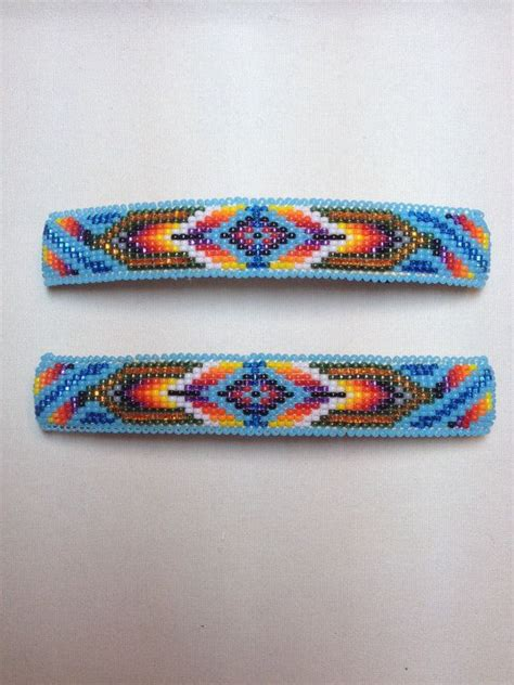 loom beading tutorial american beaded barrettes by camerongoods on etsy