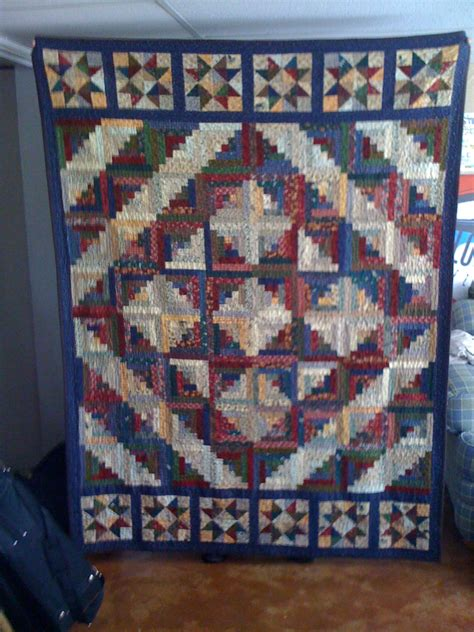 Log Cabin Quilt by Log Cabin Quilt With Quilting