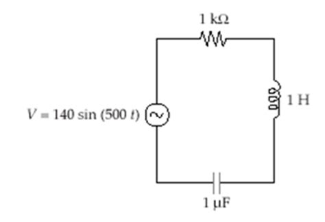 rms voltage across the capacitor figure 1 the circuit 1 determine the rms voltage chegg