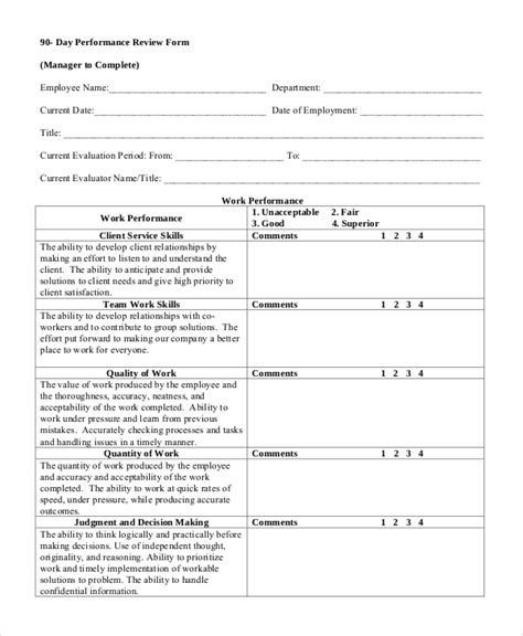 review form template sle performance review 7 documents in word pdf