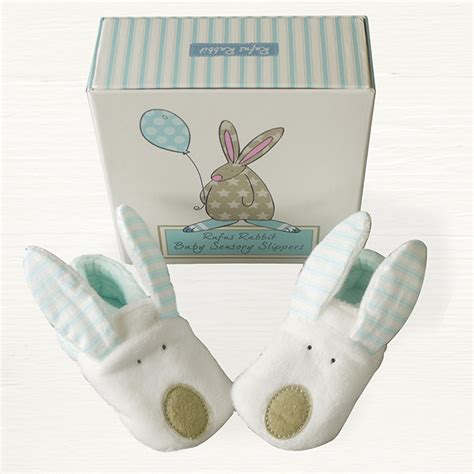 baby boy house shoes baby slippers boy 0 6m rufus rabbit