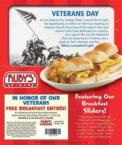 take advantage of veterans day offers the american legion 2013 free veterans day meals and discounts in orange