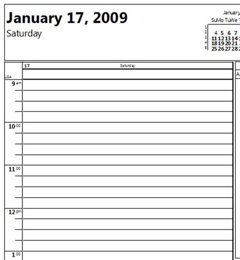 Daily Calendar 15 Minute Increments Template 8 best images of free printable daily schedule 15 minute