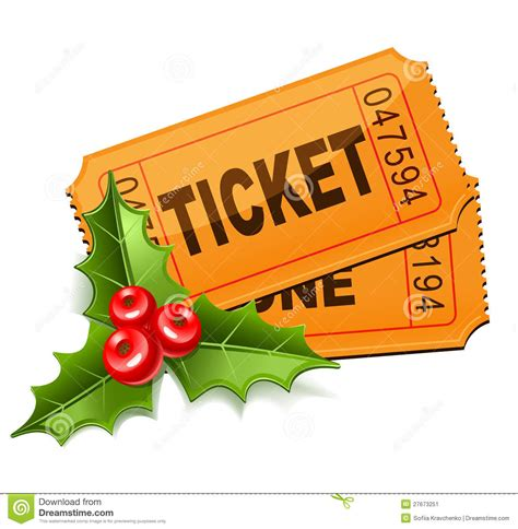images of christmas raffle tickets christmas tickets with the mistletoe stock image image