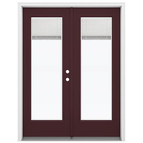 Inswing Patio Doors by Shop Reliabilt 59 5 In Blinds Between The Glass Currant