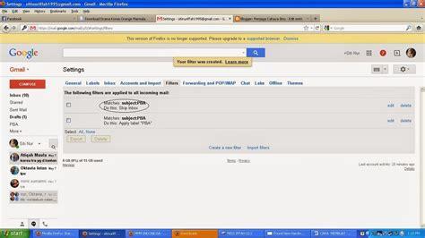 cara membuat filter gmail cara membuat filter email di gmail penjaga cahaya ilmu