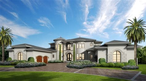 custom luxury home plans villa marina floor plan alpha builders