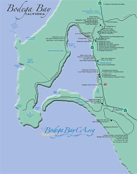 map of bay california 1 bodega bay area website official bodega bay site