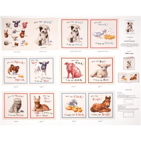 animal friends soft book panel discount designer fabric fabric