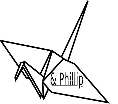 Origami Crane Outline - paper crane outline www imgkid the image kid has it