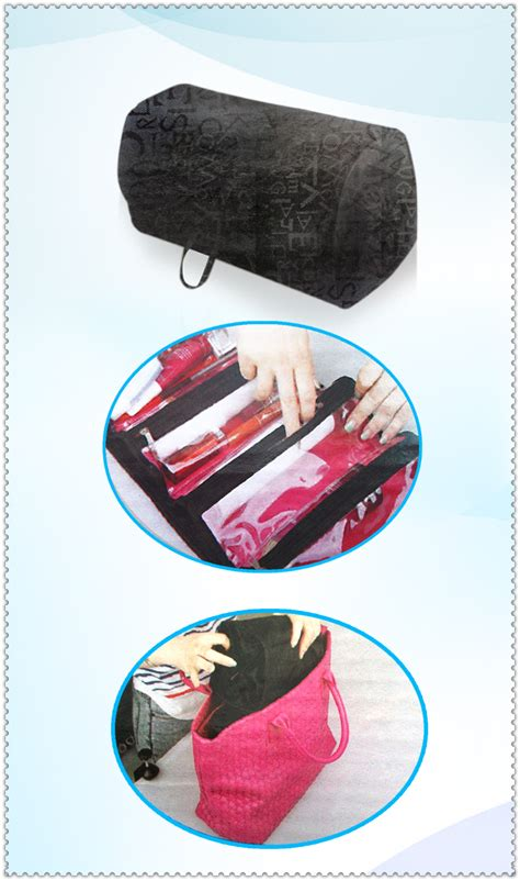 Roll And Go Makeup Tools Travel Bag travel cosmetic bag brush makeup organizer roll and go