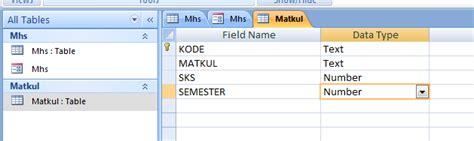 membuat database akademik apri fajar suryawan membuat database menggunakan ms acces