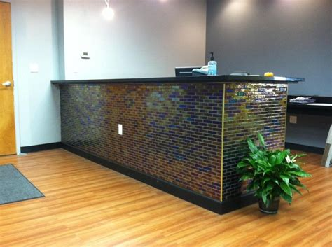 142 Best Office Design Images On Pinterest Tiled Reception Desk