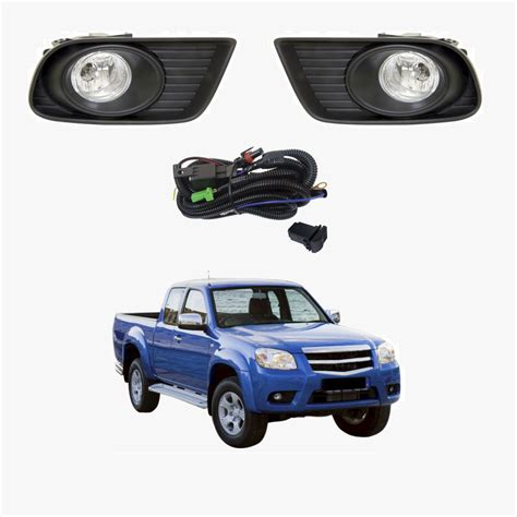 oem style complete fog light kit fits mazda bt    mz kw