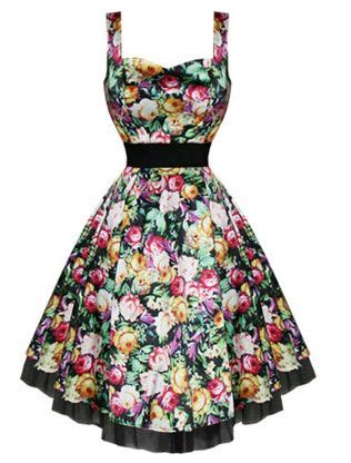 50s sweetheart exotic floral satin dress modern grease clothing and