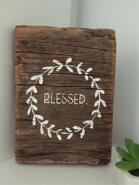 vintage wood signs home decor blessed barn wood sign wreath sign small barn sign