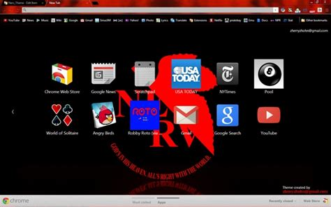 theme chrome red a dark black and red theme for chrome based on the nerv