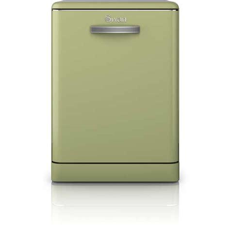 Green Dishwasher Swan Retro Sdw7040gn Free Standing Dishwasher In Green