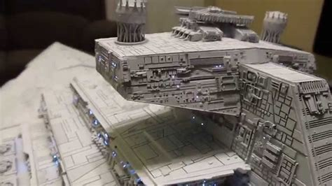 avenger star destroyer built  lighted model part