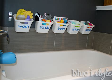bathtub toy storage stylish bathtub toy storage that transforms for guest luxury blue i style creating