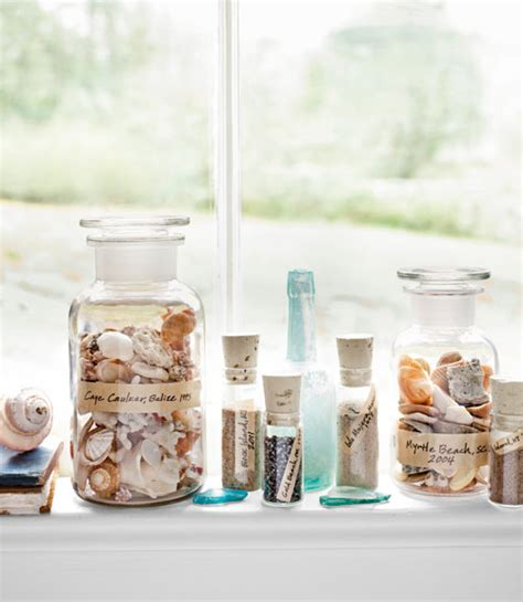 In A Bottle Seashells Sands Home Decor shell decor ideas nancyc