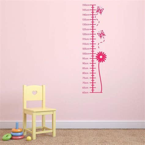 wall sticker height chart flower height chart wall sticker by mirrorin notonthehighstreet
