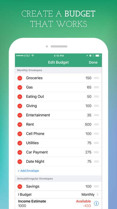Budget Spreadsheet App by Goodbudget Budget Planner App Report On Mobile