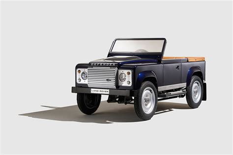 land rover bespoke land rover introduces bespoke defender pedal car concept