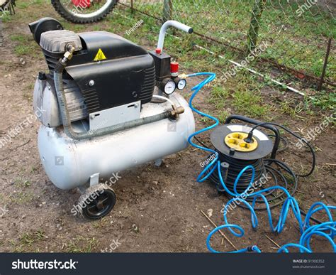 small portable air compressor home use stock photo 91900352
